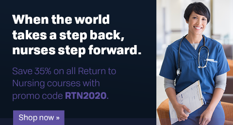 "Use promo code ""RTN2020"" to save 35% on all Return to Nursing courses"