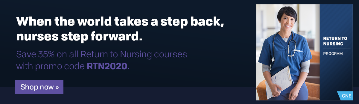 "Use promo code ""RTN2020"" to save 35% on all Return to Nursing courses!"